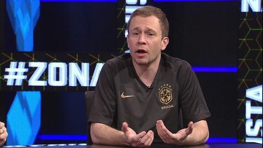 Tiago Leifert narra jogo da Copa no Zona Mista e revela time de coração