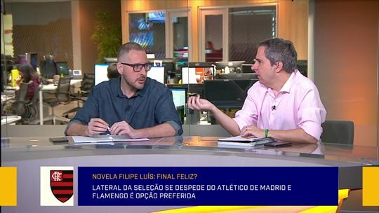 """Jornalista elogia Filipe Luís no Flamengo, mas ressalta: """"Tem que dar tempo para o time"""""""