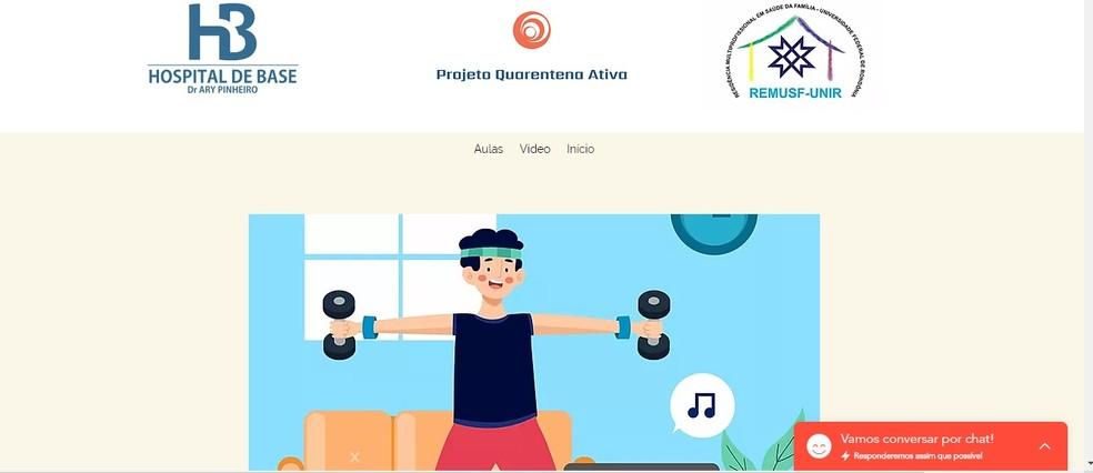 Plataforma digital de exercício foi criada aos profissionais de saúde do Hospital de Base, em Porto Velho.  — Foto: Divulgação