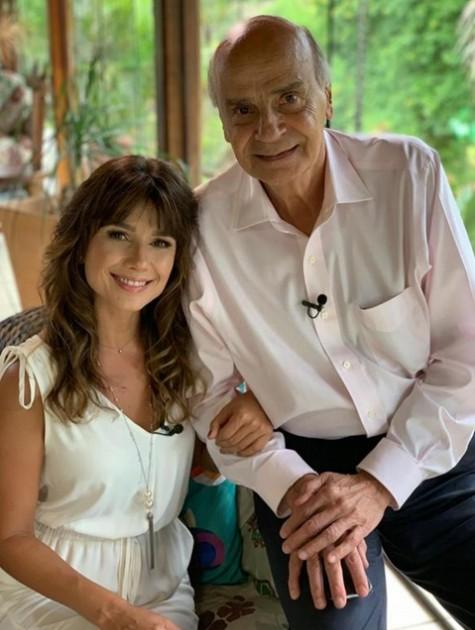 Paula Fernandes e Drauzio Varella (Foto: Divulgação)