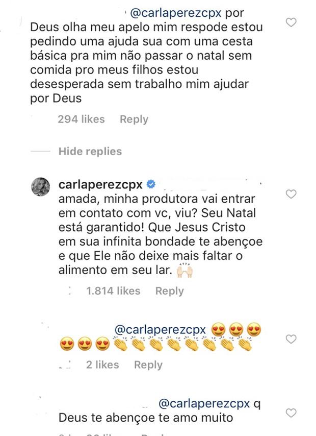 A mensagem de Carla Perez (Foto: Reprodução Instagram)