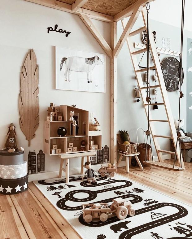 Décor do dia: quarto com brinquedoteca de madeira (Foto: @tthese_beautiful_things)