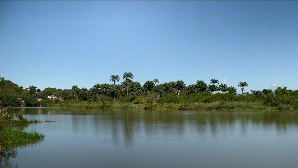 Rio Cricaré, em São Mateus — Foto: Reprodução/ TV Gazeta