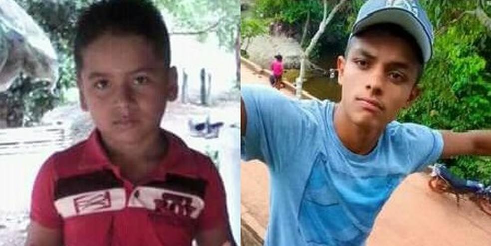 Meninos que morreram após cair em poço eram primos — Foto: Divulgação