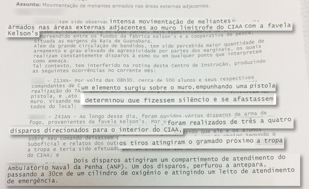 Ameaça de traficantes é relatada em documento (Foto: Fernanda Garrafiel/Arte/G1)