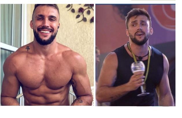 Arthur, que é praticante de crossfit, entrou musculoso no programa mas perdeu massa muscular (Foto: Reprodução)