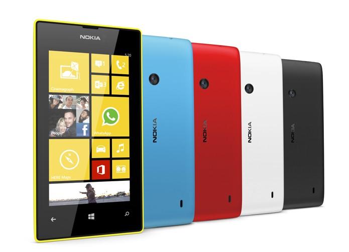 Lumia 520 traz o design colorido e reto da Nokia, permitindo a substituição de capinhas (Foto: Divulgação/Microsoft)