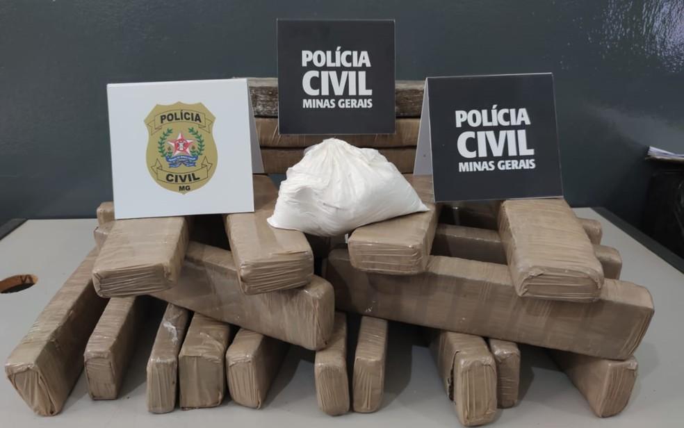 Pastor e outros três homens são presos por tráfico de drogas em Passos, MG — Foto: Polícia Civil