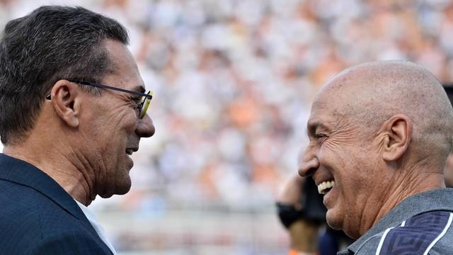 Vanderlei Luxemburgo, técnico do Palmeiras, e Jesualdo Ferreira, técnico do Santos