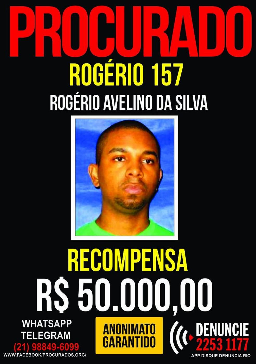 Cartaz Rogério (Foto: Disque Denúncia/Divulgação)