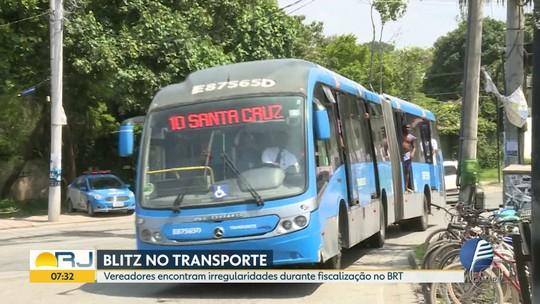 Vereadores encontram irregularidades durante fiscalização no BRT