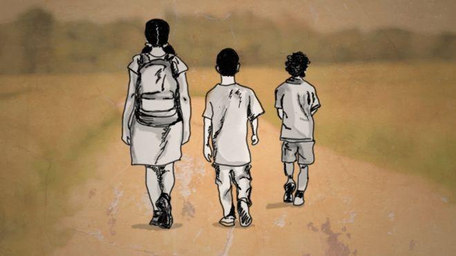 BBC - Quase 400 crianças e adolescentes cruzaram a fronteira da Venezuela com o Brasil totalmente sozinhos entre agosto de 2018 e junho deste ano (Foto: CECLILIA TROMBESI/BBC)