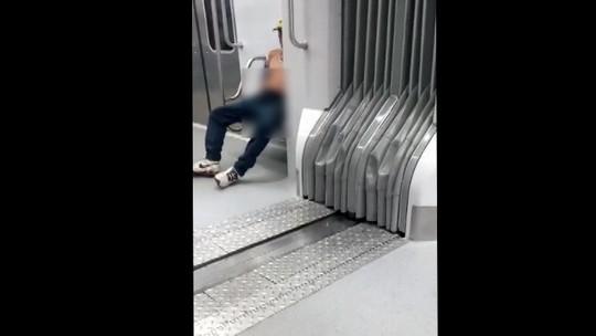 Homem é preso em flagrante após ser gravado se masturbando e tentar agarrar mulher no trem em Mogi