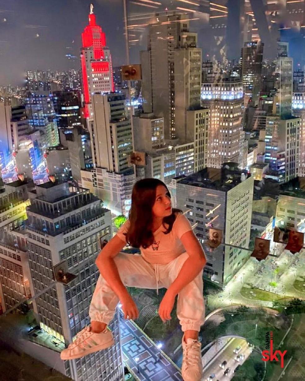 Mirante com vista para a Zona Sul da capital paulista — Foto: Reprodução
