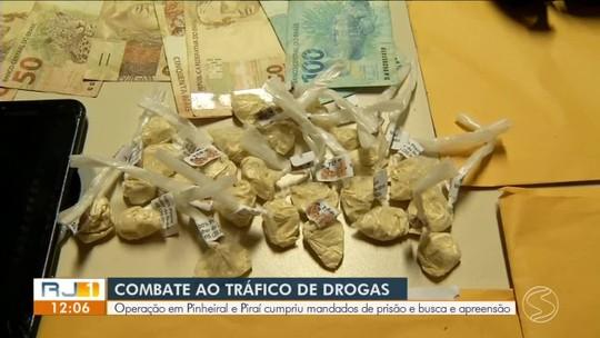 Mais de 15 são presos em ação conjunta para combater o tráfico de drogas em Pinheiral