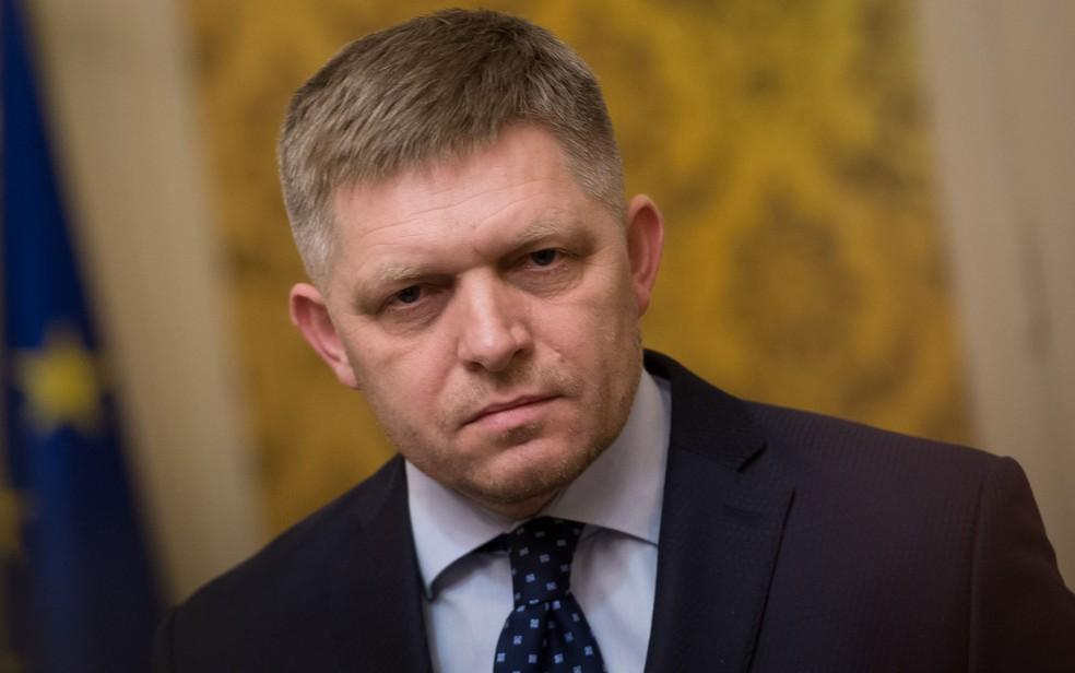 -  Robert Fico, primeiro-ministro da Eslováquia que apresentou sua renúncia nesta quarta-feira  14 , durante entrevista coletiva, em Bratislava  Foto: V