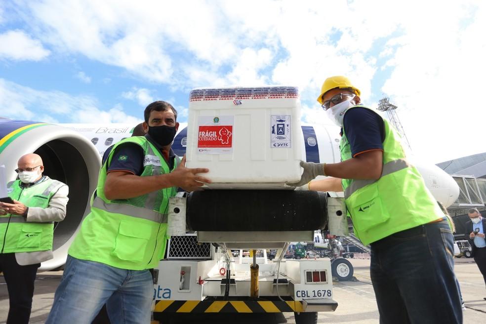 PE anuncia vacinação de trabalhadores de portos e aeroportos após receber  mais 241 mil doses da vacina AstraZeneca   Pernambuco   G1