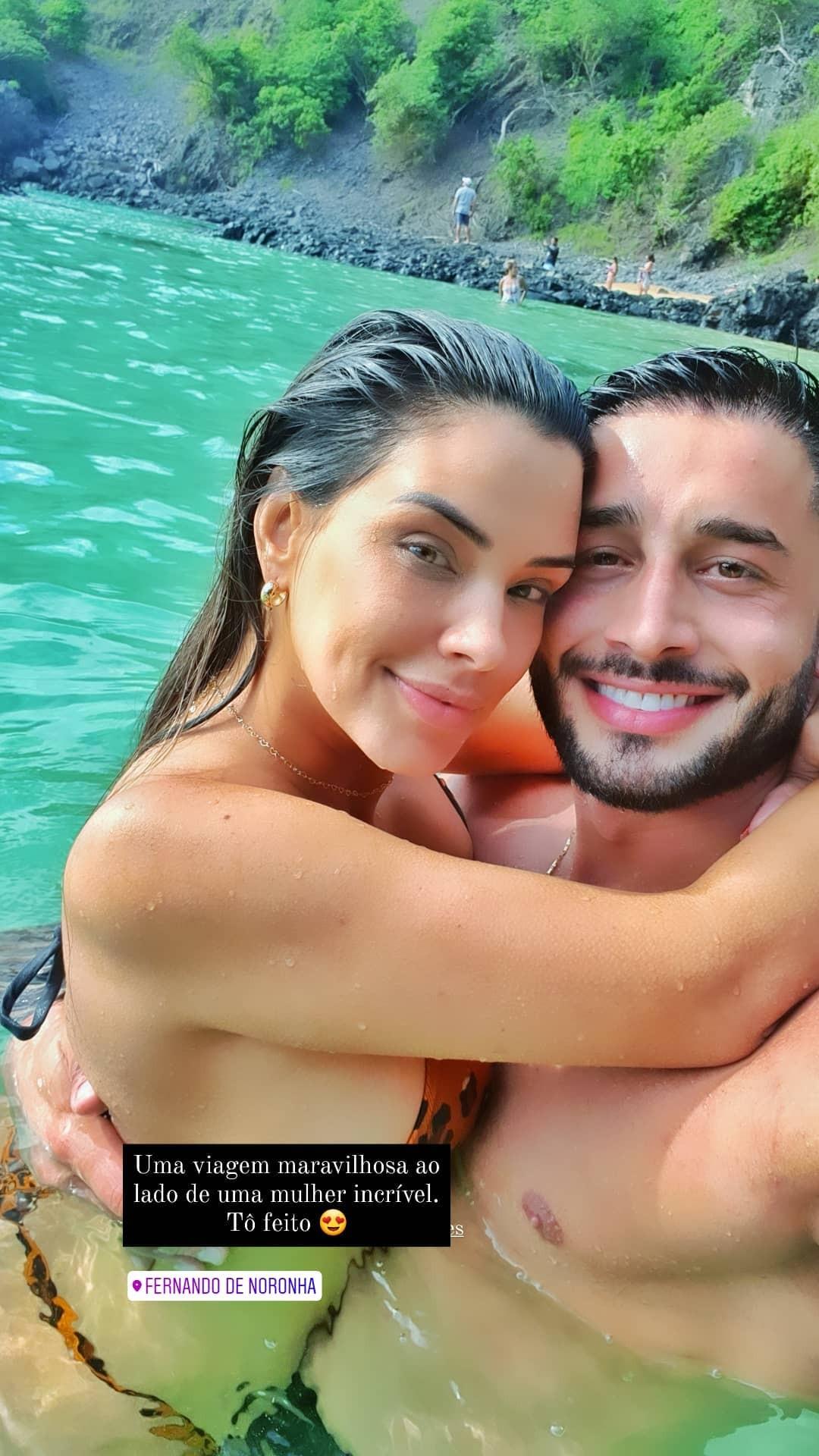 Ivy Moraes e Fernando Borges  em Noronha (Foto: Reprodução/Instagram)