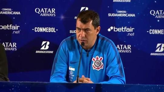 """Carille justifica escolhas e admite Corinthians abaixo na criação e """"jogo chato"""" contra o Fluminense"""