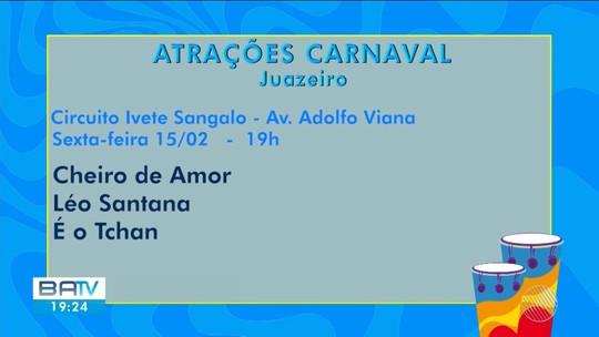 É o Tchan, Harmonia do Samba e Xand Avião estão entre atrações do carnaval antecipado de Juazeiro; confira programação