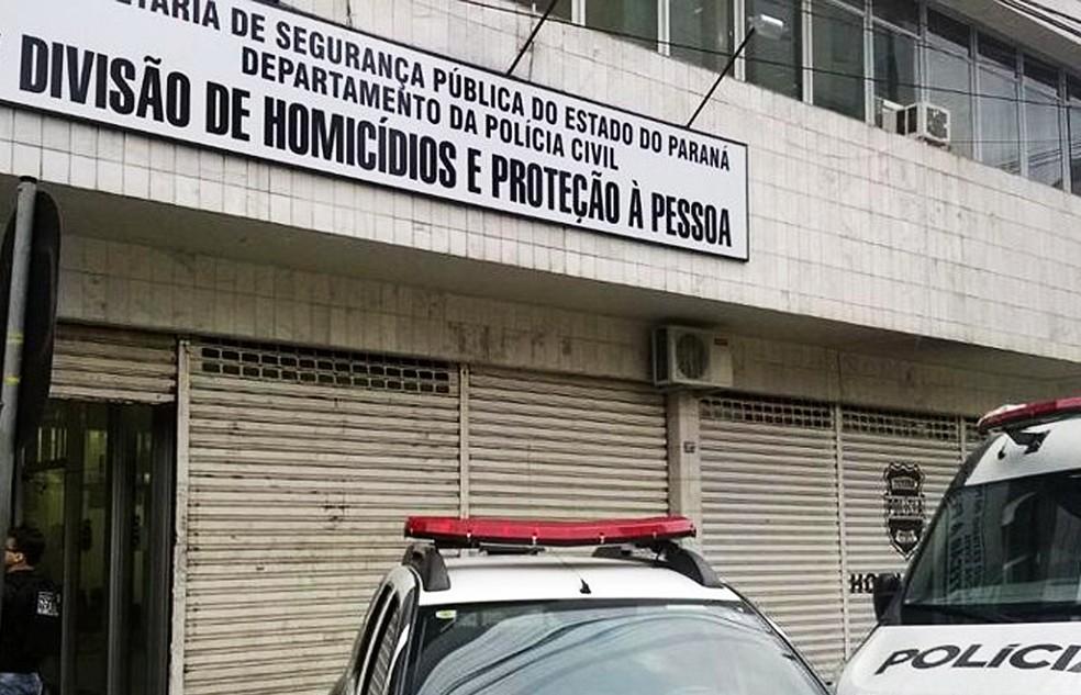 Delegacia de Homicídios e Proteção à Pessoa (DHPP) investiga morte de professor, em Curitiba — Foto: Divulgação/Sesp