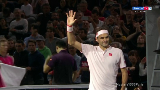 Os pontos finais de Nishikori 0 x 2 Federer pelo Masters 1000 de Paris