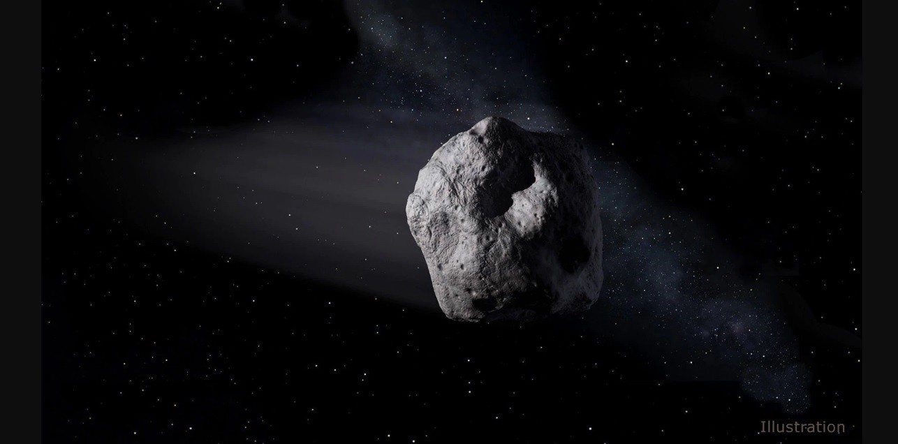 Ilustração de um asteroide feita pela NASA (Foto: Divulgação/ NASA)