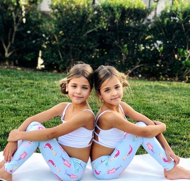 As irmãs Leah Rose e Ava Marie, consideradas as gêmeas mais bonitas do mundo (Foto: Reprodução/Instagram)