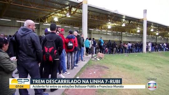 Descarrilamento afeta trens da linha 7 da CPTM em São Paulo