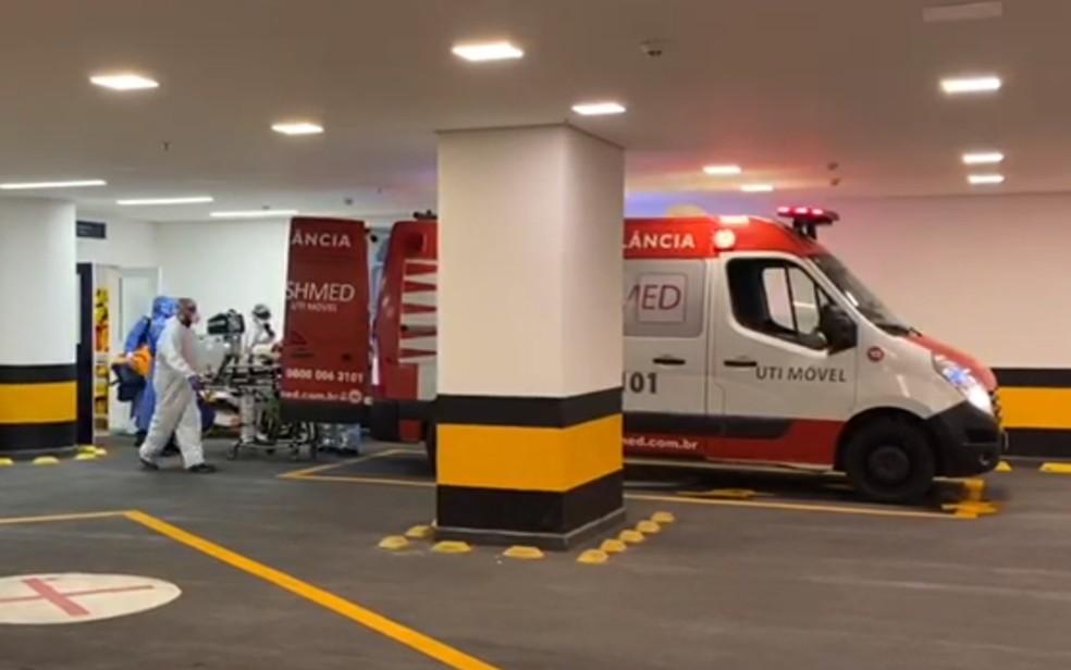 Maguito Vilela foi transferido de Goiânia para hospital de São Paulo — Foto: Reprodução/TV Anhanguera