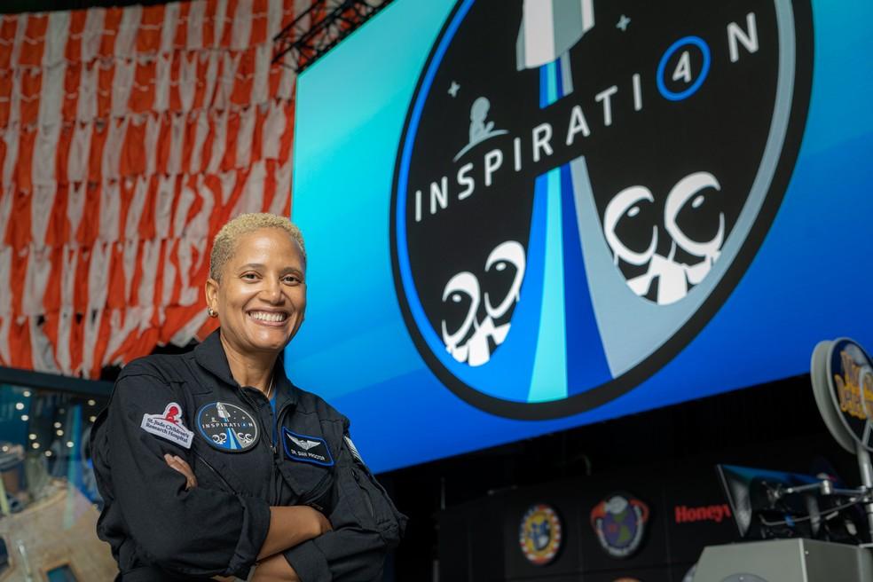 Sian Proctor, da missão Inspiration4 — Foto: Inspiration4/John Kraus