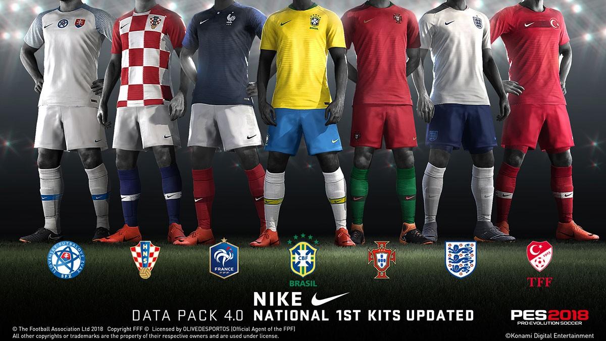b27a0fd8c8c8c PES 2018  Data Pack 4.0 traz uniformes inéditos e outras novidades ...