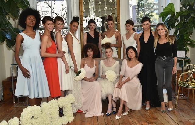 Sarah Jessica Parker apresenta sua coleção bridal em Nova York. (Foto: Getty Images)