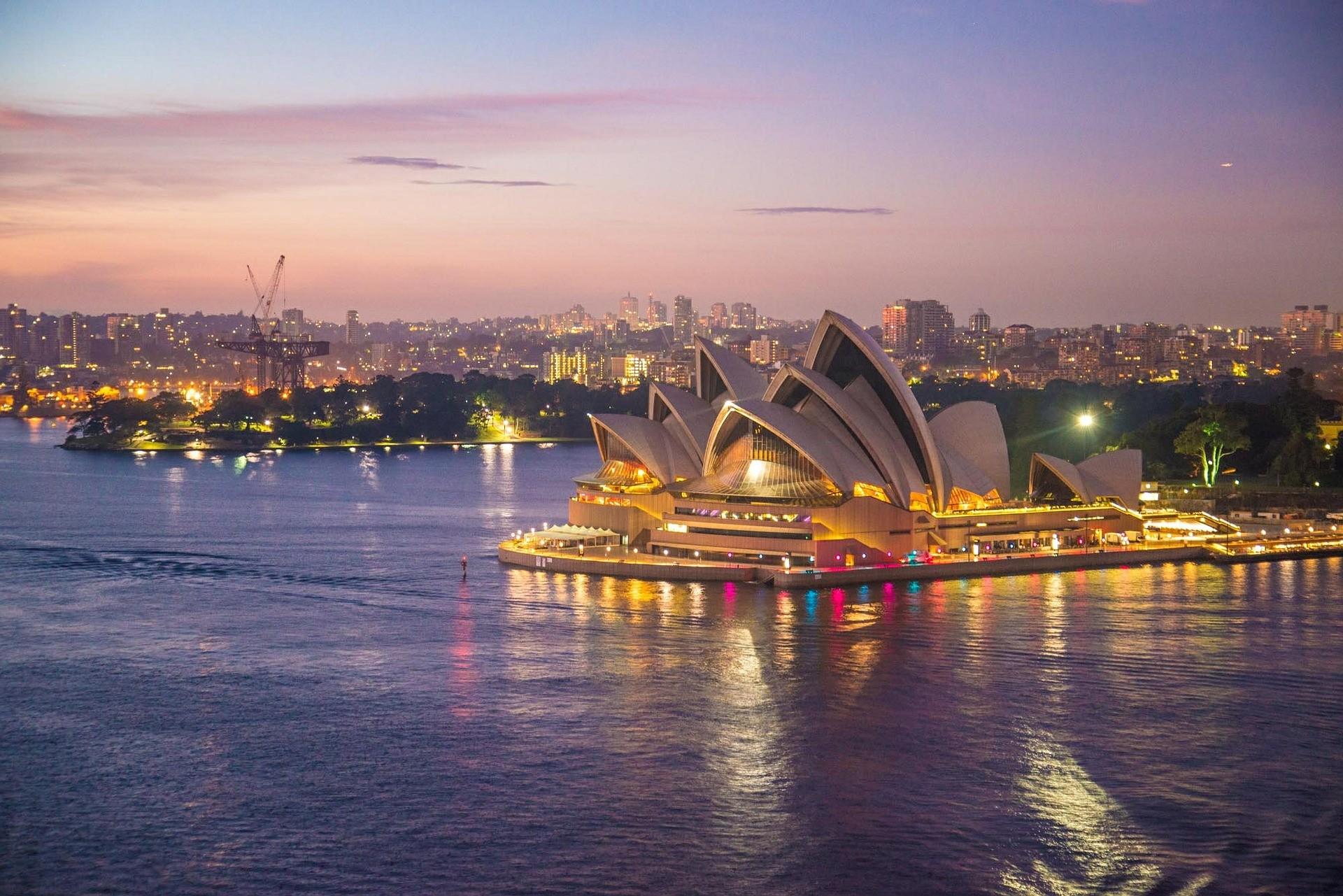 A Opera House, em Sidney, na Austrália (Foto: Pixabay)