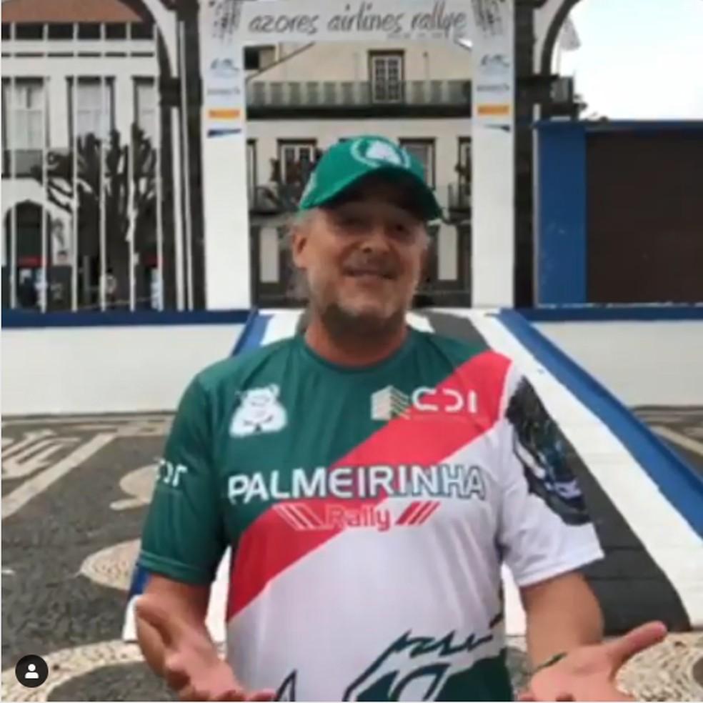 Paulo Nobre, ex-presidente do Palmeiras, gravou vídeo provocando Carlos Miguel Aidar, ex-presidente do São Paulo — Foto: reprodução