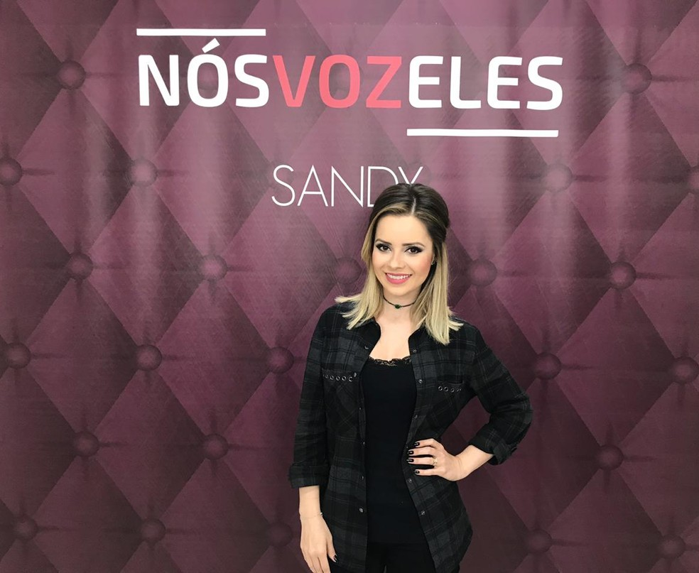 Sandy encerra série de oito singles do projeto 'Nós, Voz, Eles' com dueto com Iza — Foto: Mayara Corrêa / G1