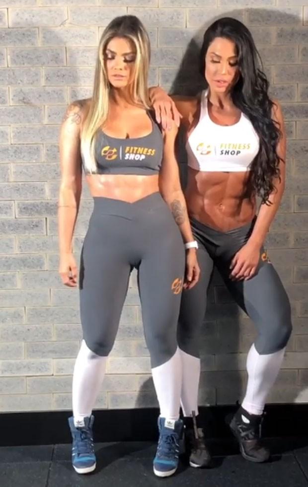 Kelly Key e Gracyanne Barbosa posam juntas (Foto: Reprodução)