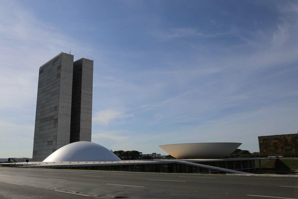 Vista do Congresso Nacional em imagem de janeiro de 2019 — Foto: Fátima Meira/Futura Press
