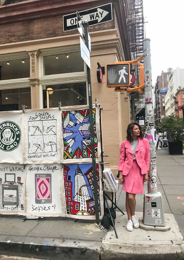 Camilla Guebur em Nova York (Foto: divulgação)
