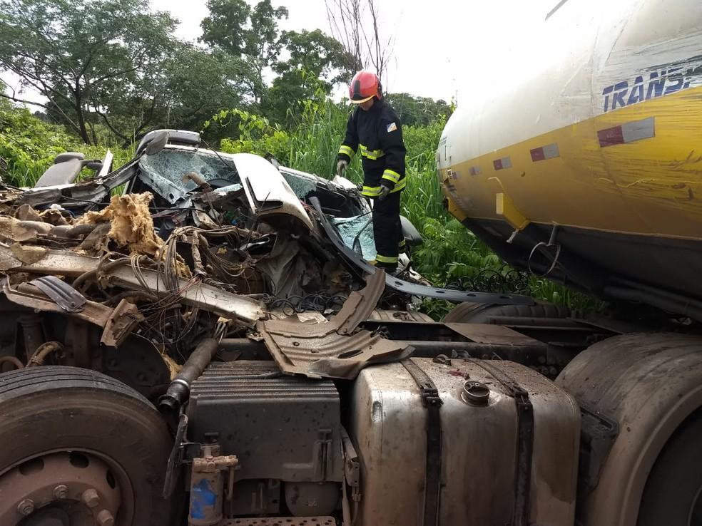 Resgate foi realizado com a ajuda de equipamento especial — Foto: Corpo de Bombeiros/Divulgação