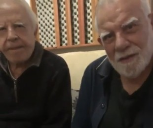 Cid Moreira com o irmão, Célio   Reprodução