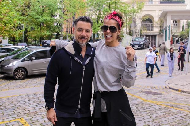 Alexandre Iódice e Adriane Galisteu (Foto: Thiago Duran/AgNews)