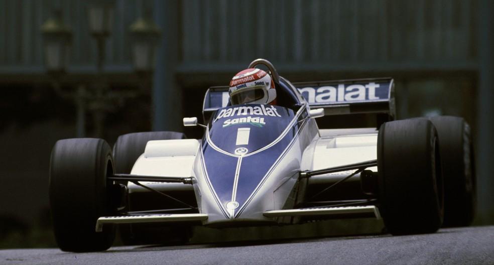 Piquet acelera Brabham-BMW BT50 no GP de Mônaco de 1982 — Foto: Getty Images