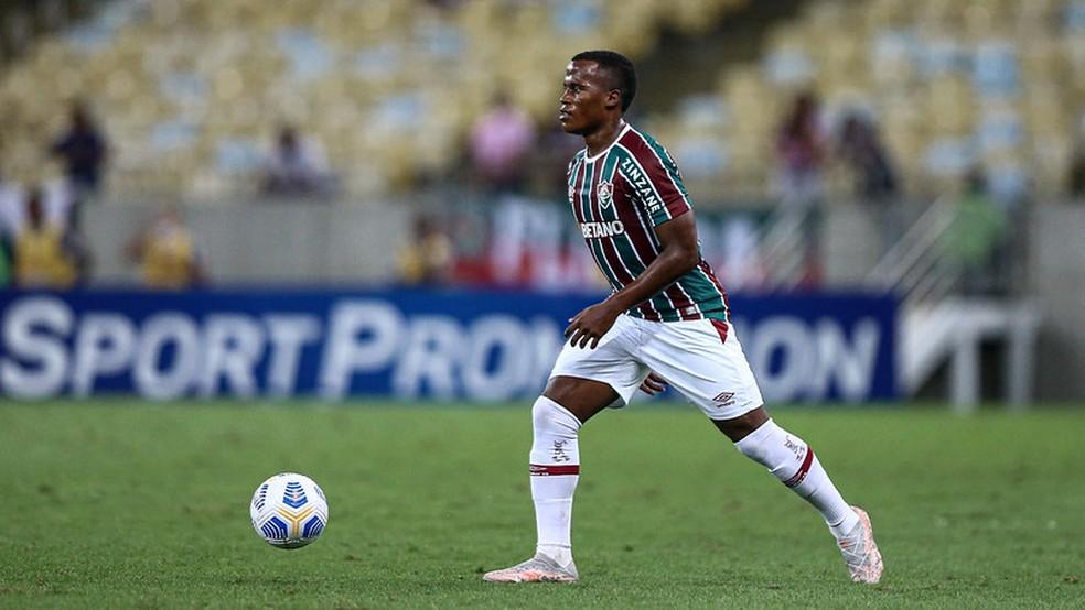 Jhon Arias, em Fluminense x Fortaleza — Foto: Lucas Merçon / Fluminense FC