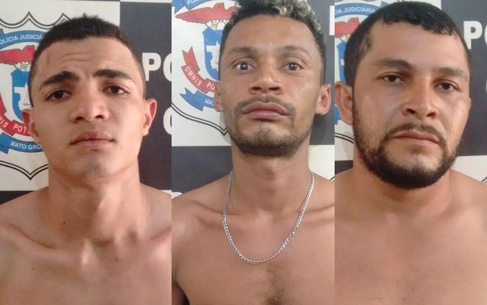 Além das mulheres, três homens foram presos pela Polícia Civil em Mato Grosso — Foto: Polícia Civil de Mato Grosso/Assessoria