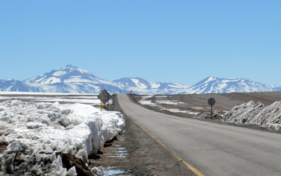 Cordilheira dos Andes, no Chile — Foto: Anderson Viegas/G1 MS/Arquivo