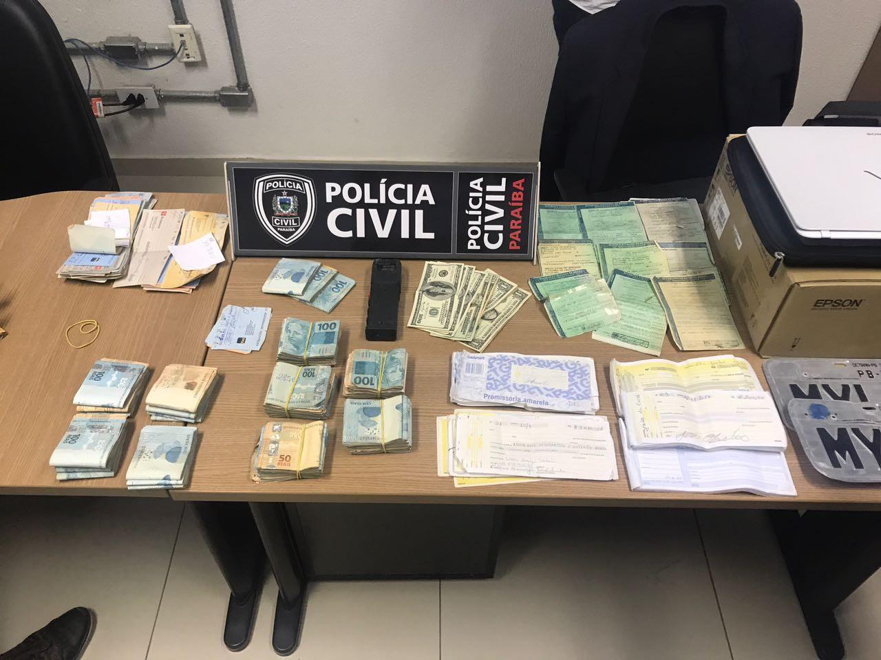 R$ 1,2 milhão são apreendidos com casal suspeito de agiotagem e estelionato em João Pessoa