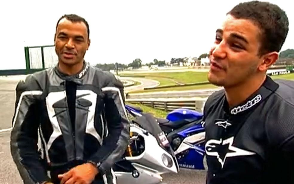 Cafu e o filho, Danilo — Foto: TV Globo / Reprodução