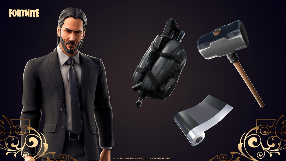 Skin by John Wick and his official accessories. (Image: Epic Games)