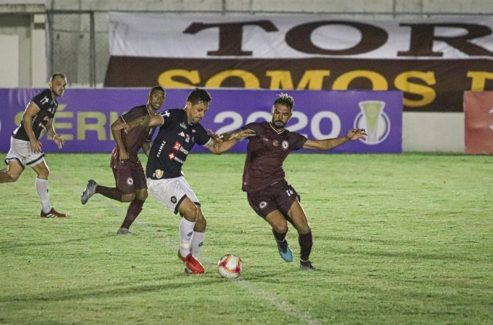 Eduardo Ramos marcou o gol da vitória de 2 a 1 do Leão fora de casa — Foto: Renan Oliveira/E.C. Jacuipense